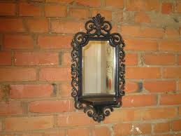 vintage wall mirror with shelf wall