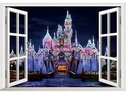 3d Style False Window Castle Night Scene Decal Removable Mural Wall Stickers Home Decor Newegg Com
