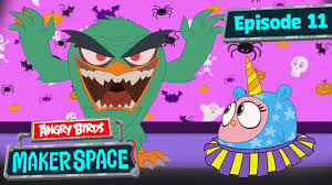 Angry Birds MakerSpace | Scary Hatchling Halloween - S1 Ep11 - YouTube