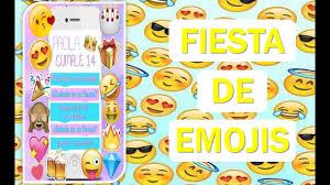 Ideas Para Fiesta De Emojis Invitaciones De Emojis