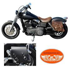 leather solo bag for fxd harley davidson