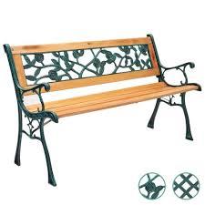 harbour housewares wooden garden bench
