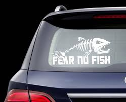 Laptop Sticker White 6 Women Love Me Fish Fear Me Fishing Car Decal