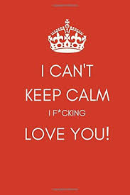i can t keep calm i f cking love you journal notebook funny
