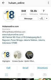 akun instagram yang wajib difollow anak fakultas hukum lpm