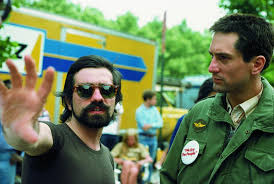 Robert De Niro con una giacca verde con il regista Martin Scorsese
