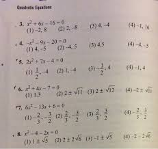 solved quadratic equations 3 x26x 16