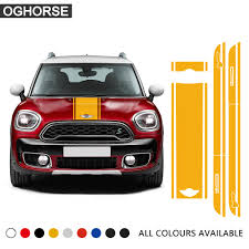 Car Hood Stickers For Mini Cooper F60 Accessories Hood Stripe Decals Color Name As Picture Exterior Accessories Itrainkids Com
