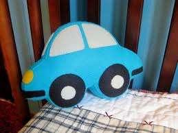 Car Shaped Plush Toy Stuffed Felt Small Crib Pillow Etsy Small Crib Cute Cushions Baby Shower Gifts For Boys