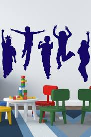 Kids At Play Wall Decal Life Sized Silhouettes 32 Colors Walltat Com