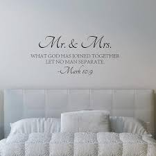 Mr Mrs Love Quotes Bible Verse Vinyl Wall Decal Sticker Scripture Art Decors Ebay