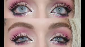 pink glittery gyaru makeup tutorial