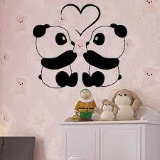 Panda Art Cute Bear Love Bamboo Tibet Wall Vinyl Decal Sticker Room Decor Tk040 27 99 Picclick