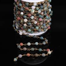 indian agate round bead rosary chains