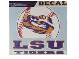 Lsu Tigers 6 Baseball Decal Purple And Gold Sports