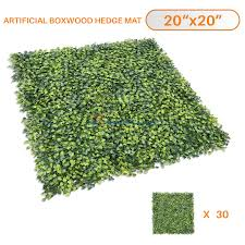 Sunshades Depot Artificial Boxwood Milan Leaf Grass Fence Privacy Screen Evergreen Hedge Panels Fake Plant Wall 20 X20 Inch 30pcs Walmart Com Walmart Com