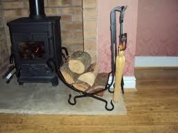 black metal fireplace log basket