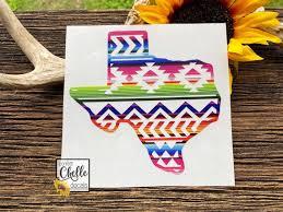 Aztec Texas Decal Aztec Texas Sticker Yeti Rtic Tumbler Etsy