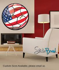Graphic Wall Decal Sticker Usa Football Soccer Ball Jh177 Stickerbrand