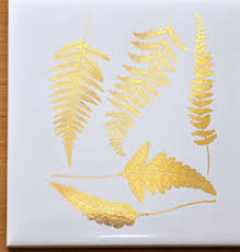 Ferns Decals For Glass Ceramic Or Enamel Custom Ceramic Decals Glass Fusing Decals Ceramic Luster Decals
