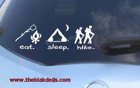 Eat Sleep Hike Vinyl Sticker Car Decal Eat Sleep Sticker Etsy
