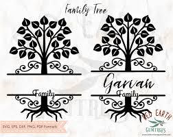 Family Tree Split Monogram Frame Family Tree Wall Decal Family Tree Decal Family Tree Cricut Family Tree Frame Family Tree Monogram Family Tree Vinyl Decal In Svg Eps Pdf Dxf Png Formats