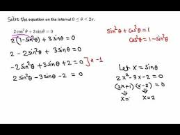 solving trigonometric equation 2 cos 2