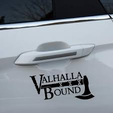Valhalla Bound Viking Car Sticker Pluto99