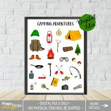 Printable Camping Adventure Print Kids Camping Print Happy Camper Poster Kids Room Decor Camping Essentials Camping Gift Camping Poster By Happy Fiesta Design Catch My Party