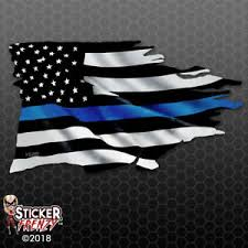 Thin Blue Line Flag Hold The Line Police Lives Matter Vinyl Window Car Decal 4 Hargeisait Com