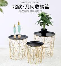 nordic golden iron metal coffee table