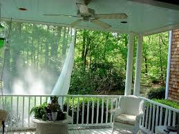 mosquito netting curtains for a deck