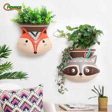indian style wall mounted plant pot