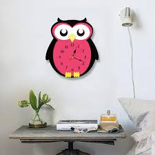 Wholesale New Creative Cartoon Owl Acrylic Wall Clock Colorful Silent Wall Clock Kids Room Decoration Gifts For Children Large Clock For Wall Large Clock Wall From Lihualin033 15 83 Dhgate Com