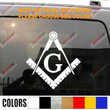 Freemasonry Masonry Freemason Masonic Square And Compasses Decal Sticker Vinyl Die Cut Pick Color Size No Background Car Stickers Aliexpress