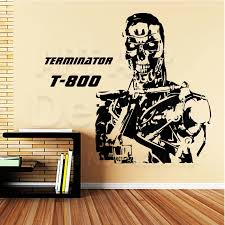 Good Quality Art Design Cheap Vinyl Home Decoration Terminator T 800 Wall Sticker Removable House Decor Robot Room Decals Sticker Remover Room Designdesigner Wall Stickers Aliexpress