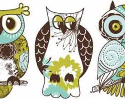 Owl Wall Decals Set Of 3 Owl Decals Vinyl Wall Decals Owls Home Decor Owl Theme Decor Girl S Bedroom Decals Infinite Graphics Art