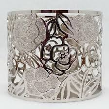 rose gold flowers 3 wick candle holder