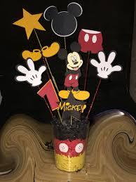 Mickey Mouse Centerpiece 1st Birthday Ideas Cricut Fiesta De