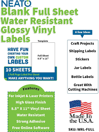 Printable Glossy Vinyl Sticker Paper In 2020 Vinyl Sticker Paper Printable Sticker Paper Sticker Paper