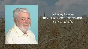 "Obituary | Rev. H.B. ""Pete"" Underwood of Cleveland, Ohio 