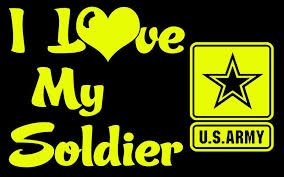 I Love My Soldier Vinyl Car Decal Us Army Lilbitolove