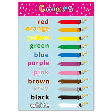 The Color Educational Canvas Painting Poster For Toddlers Kid Room Kindergarten Classrooms Decor Learning Charts Wall Art Painting Calligraphy Aliexpress