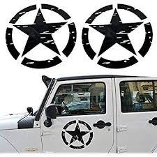 U Box Black Us Army Military Star Car Sticker Decal For Car Truck Ford F150 Jeep Wrangler Pair Jeep Decals Jeep Wrangler Jeep