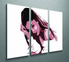 Ariana Grande 3 Split Panel Canvas Print Canvas Art Rocks
