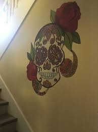 Sugar Skull Wall Decal Large Day Of The Dead Skull Sticker