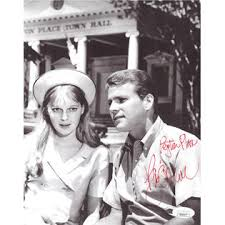 Athlon Sports Ryan O'Neal signed 1964 Vintage 8x10 Photo Peyton Place- JSA  Hologram #DD39377 (w/ Mia Farrow)