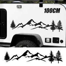 100cm Tree Mountain Forest Car Sticker Suv Rv Camper Offroad Decal Tool Ebay