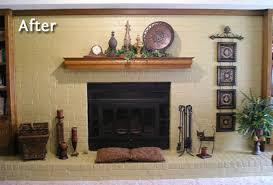 paint brick fireplace black belezaa