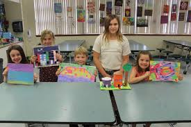 Osceola, Pathway Elementary is creating some interesting future artists -  Josephine Ganz, Elias Johansson, Layla Wilson, Abigail Greene and Rain  Schneider. | Ormond Beach Observer